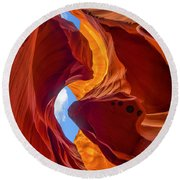 Enduring Beauty  Round Beach Towel by Dustin  LeFevre
