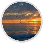 Eventide Round Beach Towel