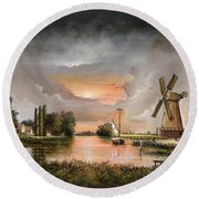 Fairhaven Mill Round Beach Towel