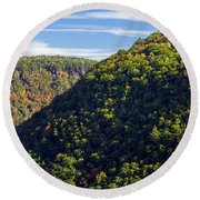Pennsylvania Grand Canyon Fall 2014 Round Beach Towel