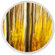 Round Beach Towel featuring the photograph Fall Abstract by Ronda Kimbrow