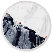 Fantasia - Piano Art By Sharon Cummings Round Beach Towel