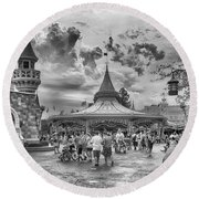 Round Beach Towel featuring the photograph Fantasyland by Howard Salmon