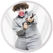 Female Psycho Killer Round Beach Towel