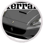 Round Beach Towel featuring the photograph Ferrari by J Anthony