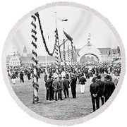 Festival Place Millerntor Hamburg Germany 1903 Round Beach Towel