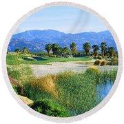 Firecliff Golf Course, Desert Willow Round Beach Towel