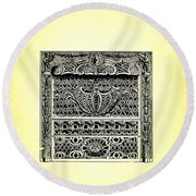 Fireplace Front Patent 1902 Round Beach Towel