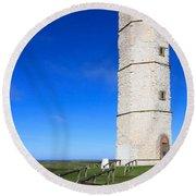 Flamborough Old Lighthouse Round Beach Towel