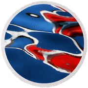 Floating On Blue 5 Round Beach Towel