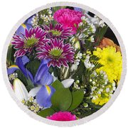 Floral Bouquet 2 Round Beach Towel