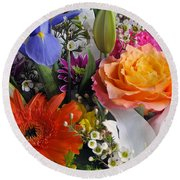 Floral Bouquet 5 Round Beach Towel
