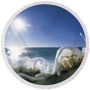 Foam Inertia Round Beach Towel