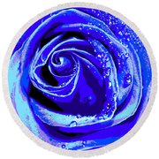 Forever In Blue Round Beach Towel