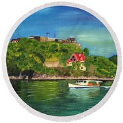 Fort George Grenada Round Beach Towel
