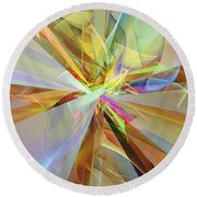 Fractal Fantasy Round Beach Towel by Klara Acel