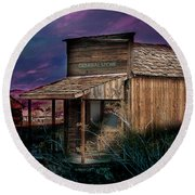 Round Beach Towel featuring the photograph General Store by Gunter Nezhoda