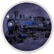 Round Beach Towel featuring the photograph Ghost Train by Gunter Nezhoda