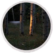 Ghostly Apparition Round Beach Towel