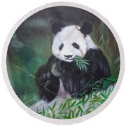 Giant Panda 1 Round Beach Towel