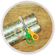 Gift Wrapping Round Beach Towel