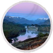Glen Affric Round Beach Towel