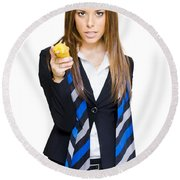 Going Bananas Over Business Round Beach Towel
