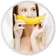 Going Fruity And Bananas Round Beach Towel