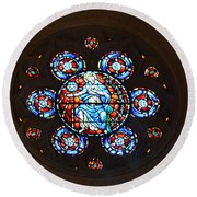 Grace Cathedral Round Beach Towel by Dean Ferreira