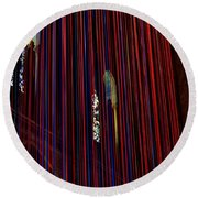Grace Cathedral With Ribbons Round Beach Towel by Dean Ferreira