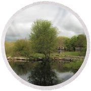 Grays Mill Pond Round Beach Towel