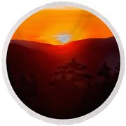 Great Balls Of Fire Round Beach Towel