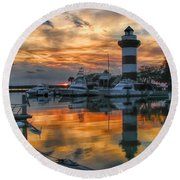 Harbour Town Sunset Round Beach Towel