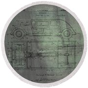Harleigh Holmes Automobile Patent From 1932 Round Beach Towel