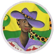 Hat Appeal Round Beach Towel