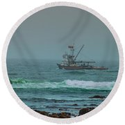 Round Beach Towel featuring the photograph Heading Out by Steven Reed