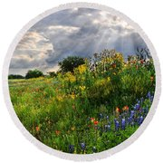 Heaven's Light  Round Beach Towel by Lynn Bauer