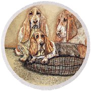 Hess'er Puppies Round Beach Towel