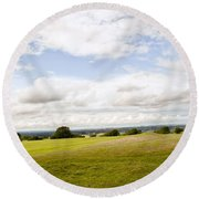 Hill Of Tara Round Beach Towel