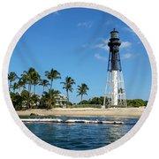 Hillsboro Inlet Lighthouse Round Beach Towel