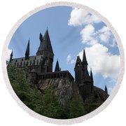 Hogwarts Castle Round Beach Towel by David Nicholls