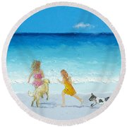 Holiday Fun Round Beach Towel