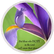 Hope Round Beach Towel by Deb Halloran