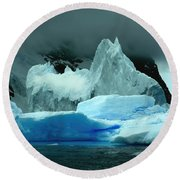 Round Beach Towel featuring the photograph Iceberg by Amanda Stadther