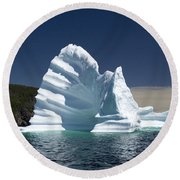 Round Beach Towel featuring the photograph Iceberg by Liz Leyden