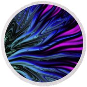 Incoming Waves #1 Round Beach Towel