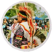 Indian Finery Round Beach Towel by Marilyn Diaz