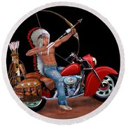 Indian Forever Round Beach Towel by Glenn Holbrook