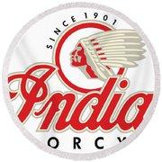 Indian Motorcycle Logo Round Beach Towel