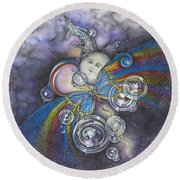 Into The Cosmos Round Beach Towel
